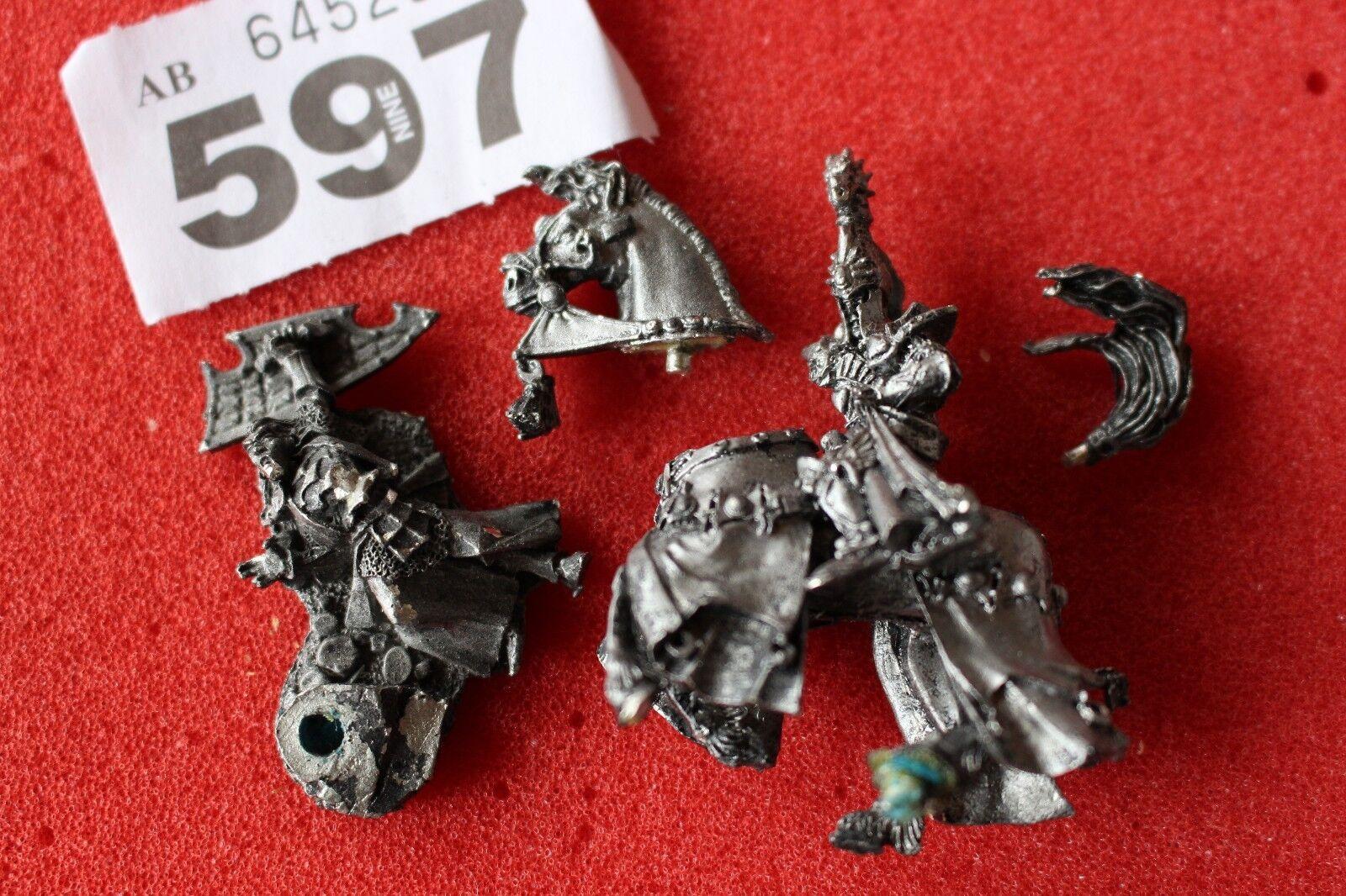 Games Workshop Warhammer Hauts Elfes Prince Tyrion monté elfes fantasy metal Épuisé