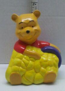 "Vintage Disney Winnie The Pooh Ceramic with Honey Pot  6"""