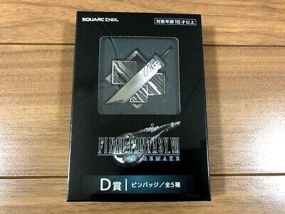 Final Fantasy 7 Remake Lottery FF7 kuji D prize pin badge D-1 Square Enix