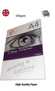 A4-Sketch-Pad-135gsm-Headbound-Cartridge-White-Drawing-Paper-60-Sheet-Book