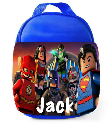 Personalised Boys Justice League School Lunch Bag Insulated Childrens Lunchbox