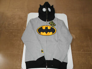 81ff2ffb9a26 AUTHENTIC A BATHING APE BAPE x DC BATMAN FULL ZIP HOODIE GRAY L NEW ...