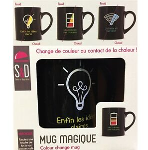 1 Mug Magique Change De Couleur A La Chaleur Vaisselle Deco Haute Qualité Et Bas Frais GéNéRaux