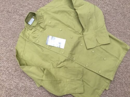 "CHEF WORKS CHEFS JACKET XS BRIGHT GREEN 36//38 /"" 100/% COTTON CHEST FCLI"