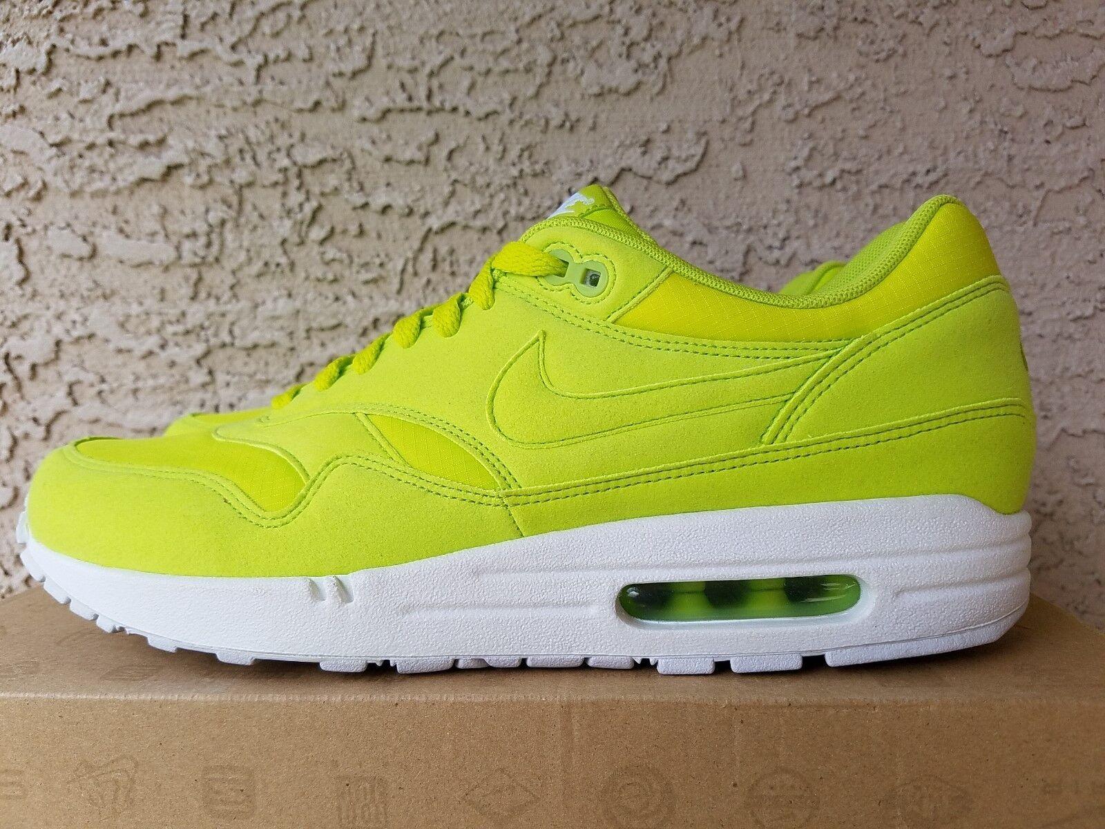 new product ebf4c e6f18 Nike Air Max 1 Atomic Green White Tennis Ball 308866 331 Size 10.5 delicate