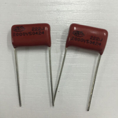 10PCS CBB81 222J 2000V 0.0022UF 2.2NF P15 Metallized Film Capacitor