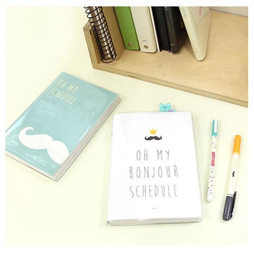 Pinkfoot Bonjour Monthly Weekly Planner Scheduler Organizer Diary Journal