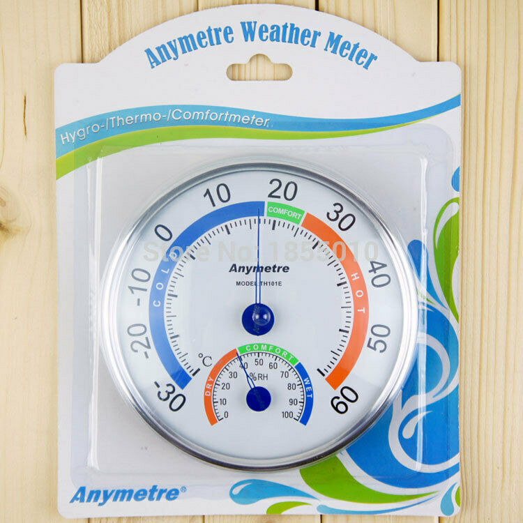 Anymetre Big Thermometer and Hygrometer Meter Weather Thermometers Household Use