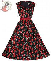 LINDY BOP 50's XANDRA CHERRY rockabilly DRESS BLACK & RED