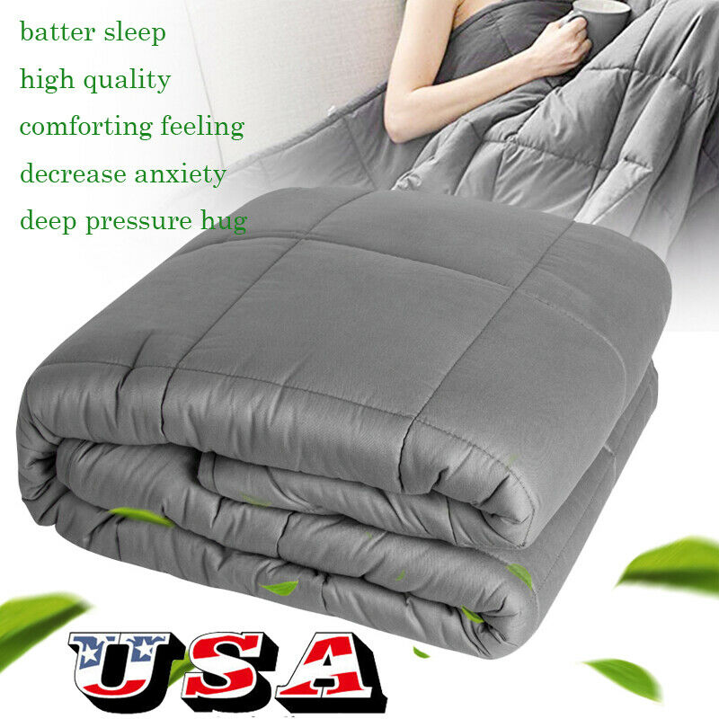 60''x80'' Weighted Blanket Adult Sensory Reduce Sleep Anxiety 15lb 20lb Gravity