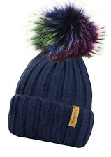 57c4cb80229 item 1 LADIES CHUNKY KNIT RIB BEANIE BOBBLE HAT DETACHABLE LARGE MULTI  COLOUR POM POM -LADIES CHUNKY KNIT RIB BEANIE BOBBLE HAT DETACHABLE LARGE  MULTI ...