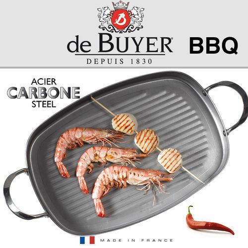 De Buyer-carbone Plus-Grill sartén rectangular