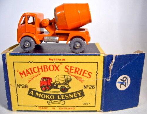 MatchBox RW 26A Cement Mixer Plastikräder in  MOKO  Box