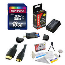 Transcend 16GB Memory Card and LP-E10 Battery Package for Canon EOS Rebel T3