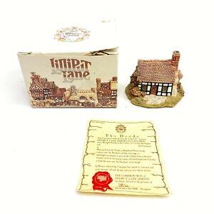 Lilliput-Lane-cinco-formas-Cottage-con-escritura-en-caja-original-hecho-a-mano