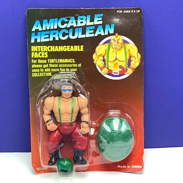 Amicable Herculean action figure moc teenage mutant ninja turtle head indian hat