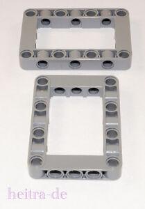 LEGO-Technik-2-x-Liftarm-Verbinder-Block-dick-5x7-hellgrau-64179-NEUWARE