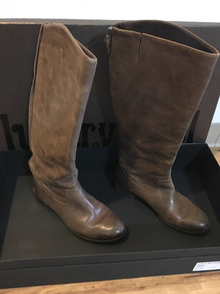 Luxury Rebel Lauren Womens Mid-Calf Boots SZ8M US/38M Tan Leather 1