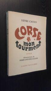 Henri Cacho Corse Mon Calidad Novela Demuestra Galieno 1959 Pin Buen Estado