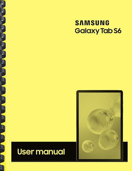Samsung Galaxy Tab S6 SM-T865N Manual / User Guide ...