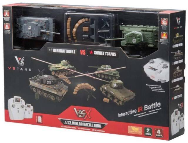 VsTank VSX 1/72 Tiger I/T34 IR Battle Tank Set