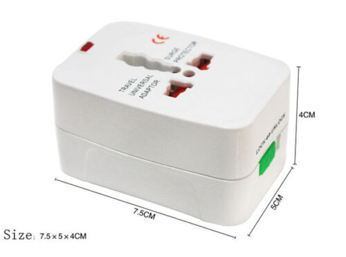 NEW EU AU UK US To Universal World Travel AC Power Plug Convertor Adapter Socket