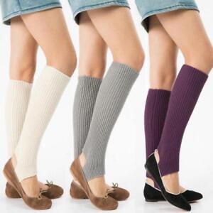 Womens Knee High Winter Leg Warmers Leggings Boot Socks Slouch