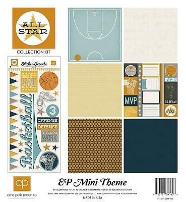 Echo Park Paper All Star Mini Theme Collection Scrapbooking Kit