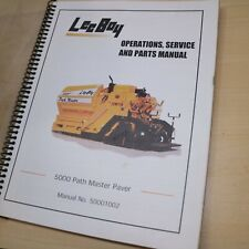 Leeboy 5000 Path Master Paver Service Owner Operator Parts Manual Book Shop List