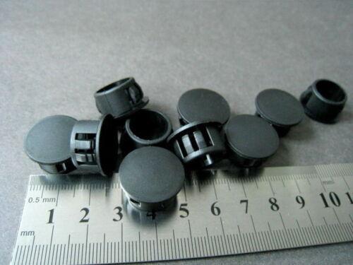 """16mm x20 pcs HP-16 Black Nylon Locking Hole Plug Button Cover #gtc Dia ~5//8/"""""""