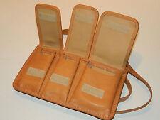 SAC A MAIN 3 POCHES peau de veau CUIR LEATHER BAG Ledertasche SACOCHE handbag
