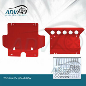 Front-Red-Sump-Guard-Bash-Plate-for-Toyota-Hilux-2005-2015-Underbody-Protection