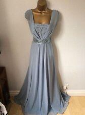 Coast Full Length Blue Dress Size 12 Vgc
