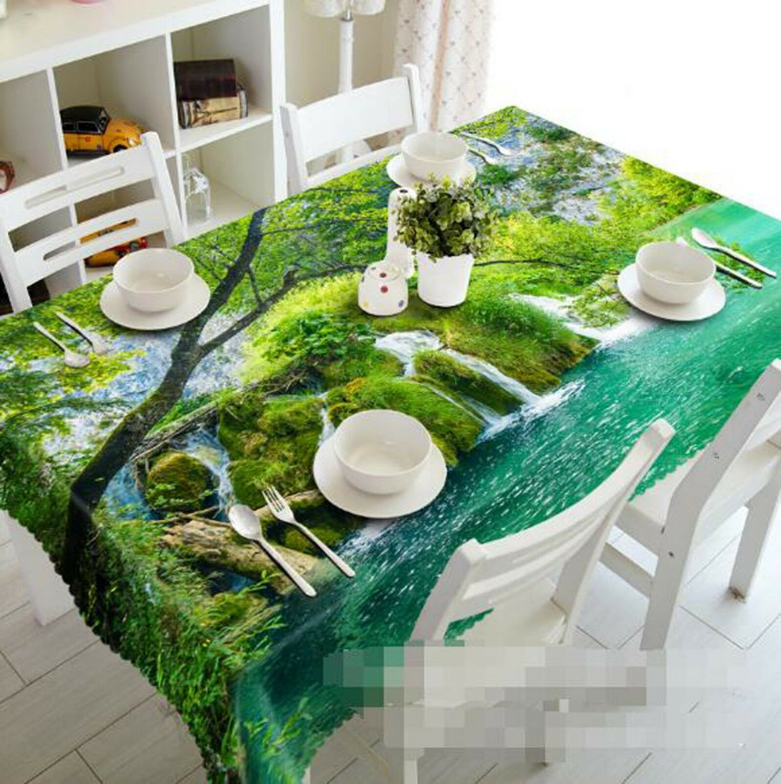 3D Waterfall Plant 27 Tablecloth Table Cover Cloth Birthday Party Event AJ Lemon