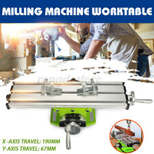 Milling Machine Compound Working Table Cross Slide Bench Drill Vise Fixture