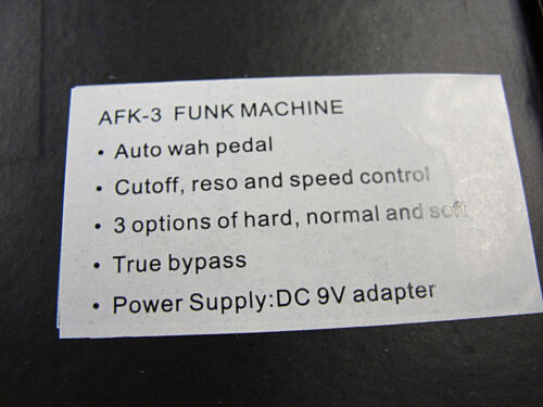 Tom/'s Line Engineering AFK-3 FUNK MACHINE Auto Wha Guitar Effects Pedal