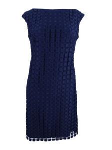 Lauren-by-Ralph-Lauren-Women-039-s-Geometric-Square-Lace-Dress