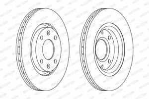 956082 Brake Disc Pair Front Axle