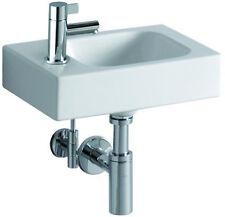 Keramag iCon Handwaschbecken Gäste Bad 38cm Ablage links weiß ohne Überlauf