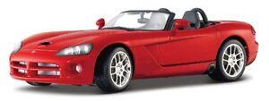 Maisto-31632-2003-Rosso-Dodge-Viper-SRT10-1-18-Scala-Automobile-Nuovo-in-Scatola