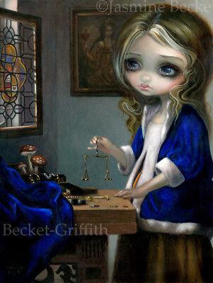 Jasmine Becket-Griffith art print SIGNED Alice Through a Vermeer Glass