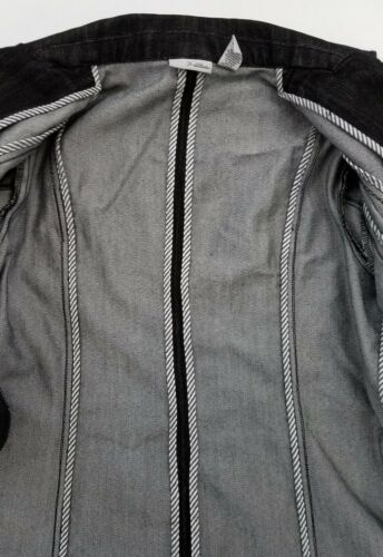 Denim Jacket Plus Womens Platinum A10 Sort Sz 2 Blazer Chico's qwAFC7n