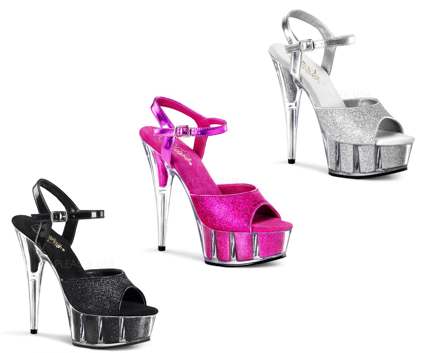 la migliore moda Pleaser Exotic Dancing DELIGHT-609-5G Ankle Ankle Ankle Strap Sandal Dimensione 5-14  autentico