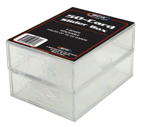 2-teilig BCW Plastikkasten für 50 Karten Deck Box 2 ct.