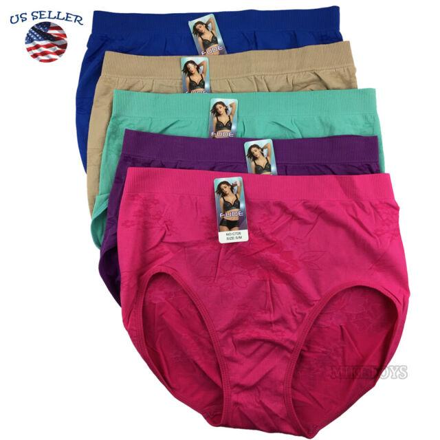 6 x Ladies Women 100/% Cotton Underwear Bikini Briefs