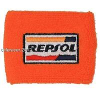 Repsol Honda Cbr Brake Reservoir Socks Fluid Tank Cover Orange 125 600rr 1000rr