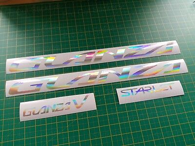 EP91 Starlet Toyota Glanza V Silver Hologram Neo Chrome Car Stickers Decals JDM,