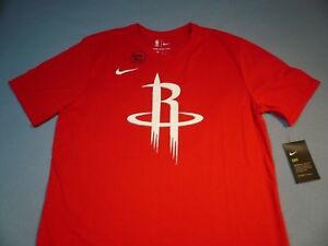 low cost fbd30 af49b Details about Nike Houston Rockets Logo BRAND NEW t-shirt dri fit athletic  cut NBA Basketball