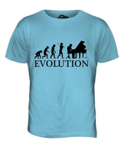 Piano Évolution de L/'Homme Homme T-Shirt Haut Cadeau Musicien