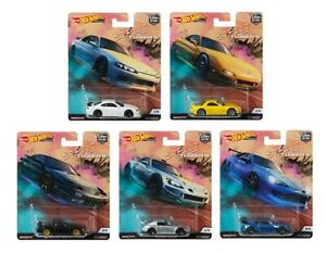 Hot-Wheels-2019-Car-Culture-Street-Tuners-Series-Set-of-5-Cars-1-64-FPY86-956L
